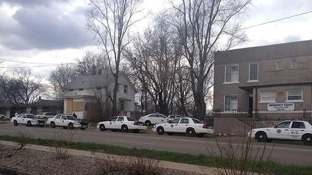 Police cars 9th street