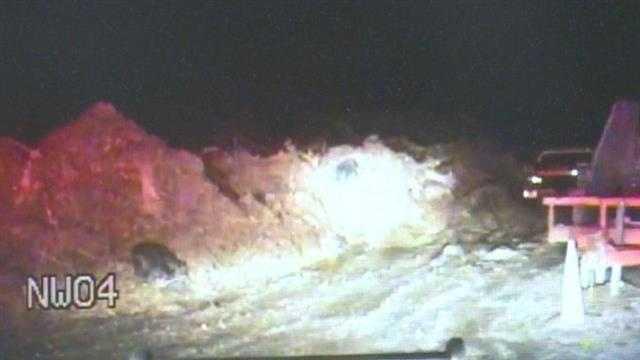 Caught on video: Driver makes splash eluding police