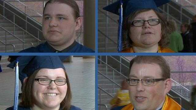 Family graduates from college together