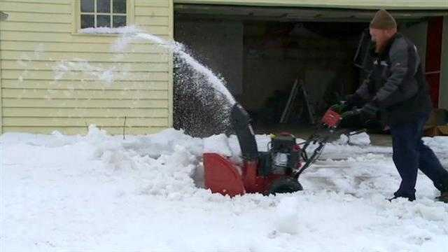Residents in Clear Lake and nearby Garner were surprised they are shoveling instead of going out on a boat in May.