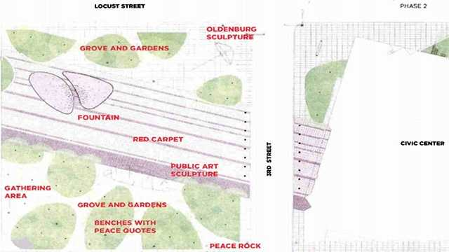 Nollen plaza plan design