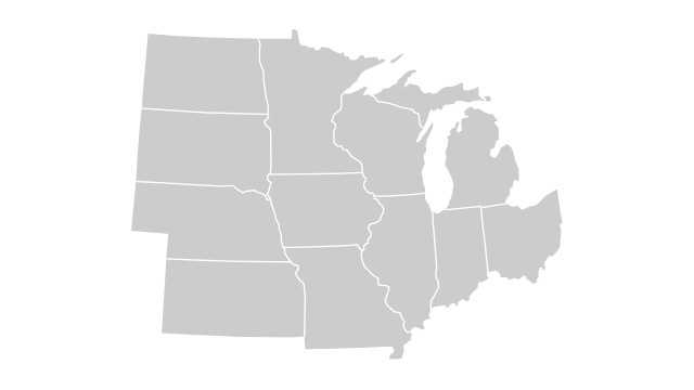 Midwest map generic