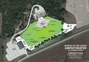 The plan for the new amphitheater.