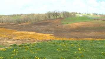 Wide shot view of the future amphitheater site.