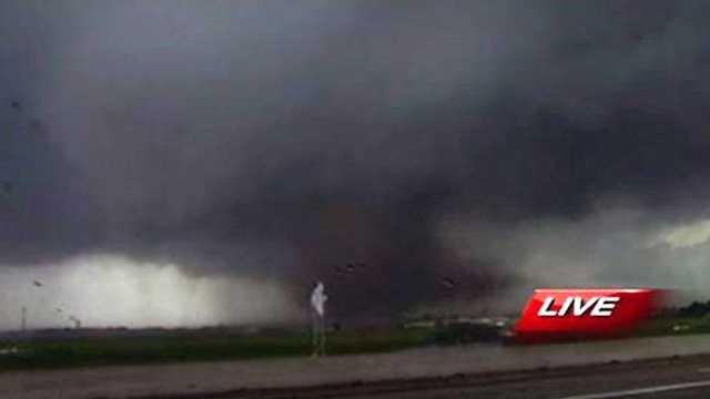 KOCO dark clouds tornado