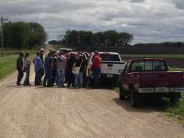 Teams searching rural areas around the town of Dayton.