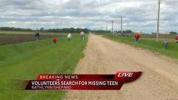 Searching for evidence in ditches on Tuesday at noon.