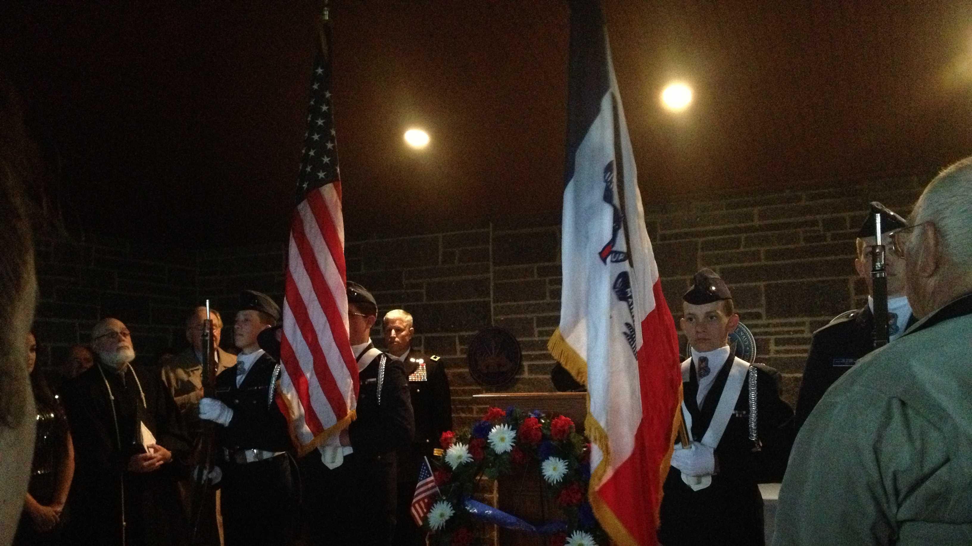 Veterans cemetery service