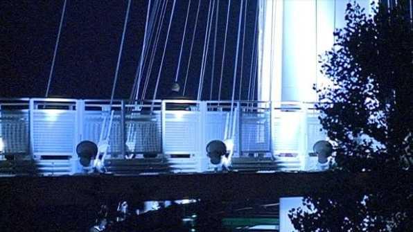Pedestrian bridge shooting