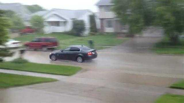 Storm report: Heavy rain in DM suburbs