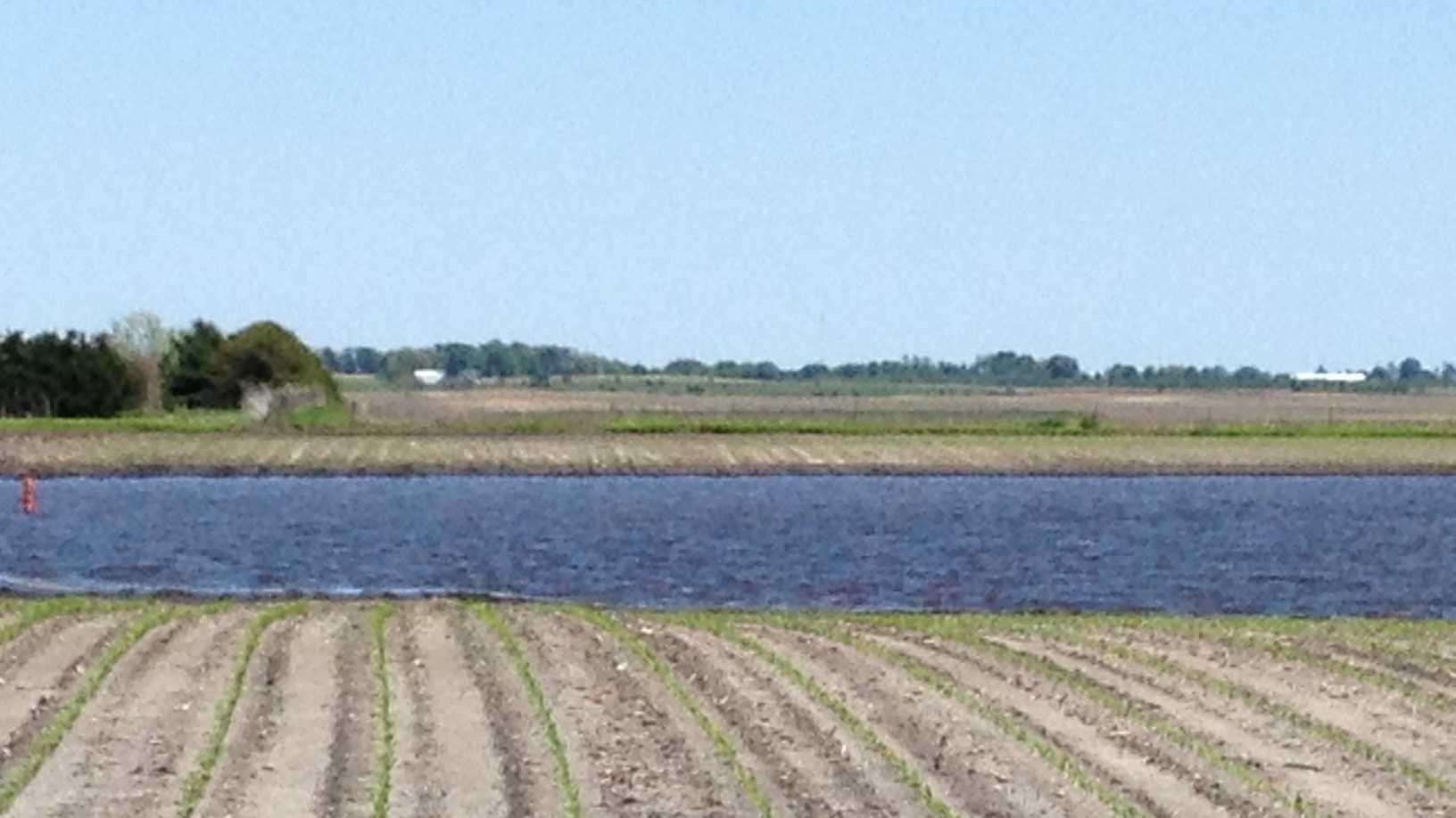 Flooded farm field generic