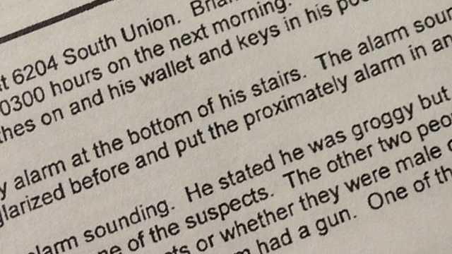 Burglary report