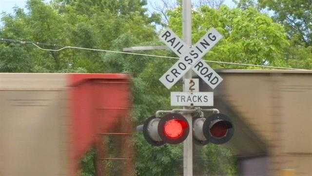 Boone train crossing