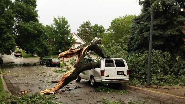 Storm damage in Omaha