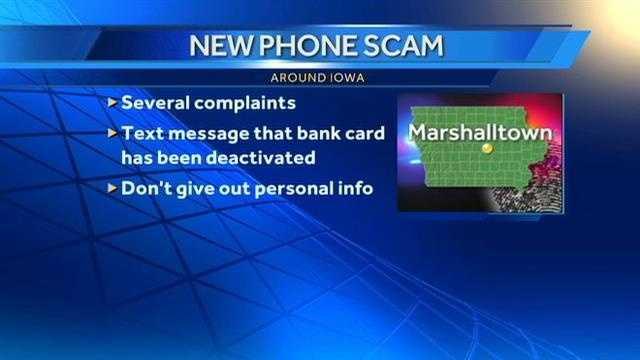 Marshalltown scam