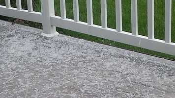 Small hail reported in Pella about 2:20 p.m.