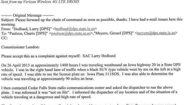 Hedlund email