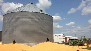 Grain bin rescue near Dayton.