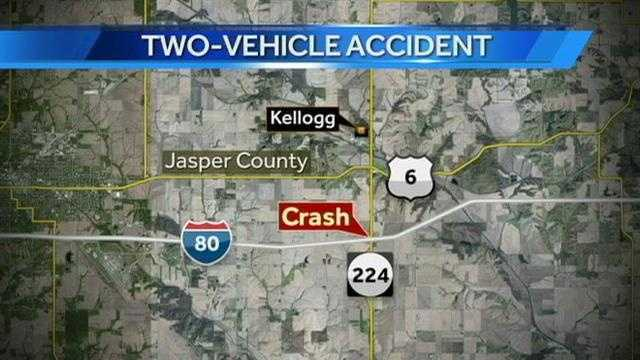 I-80 crash map