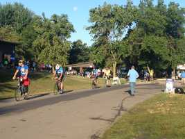 RAGBRAI rolls out of Des Moines Wednesday.