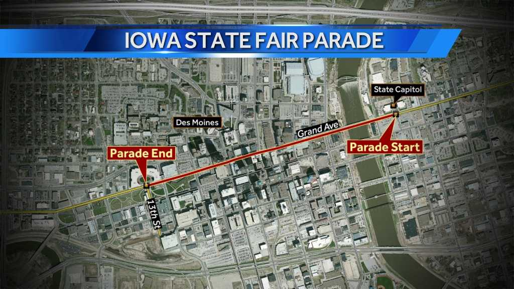 state fair parade map