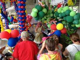 Iowa State Fair Cultural Center's balloon exhibit