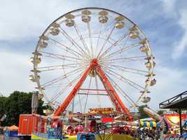 Midway at the Iowa State Fair -- Ferris Wheel