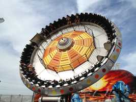 Midway at the Iowa State Fair -- The Moon Raker