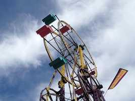 The Double Ferris Wheel at the Iowa State Fair