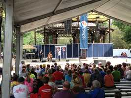 The Bill Riley talent stage at the Iowa State Fair