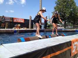 Iowa State Fair lumberjack competition