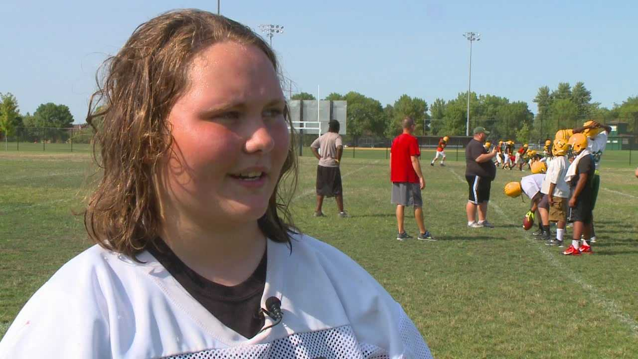 A Hoover High School student decided to go against the grain of traditional high school sports and earn a starting role on the football team.