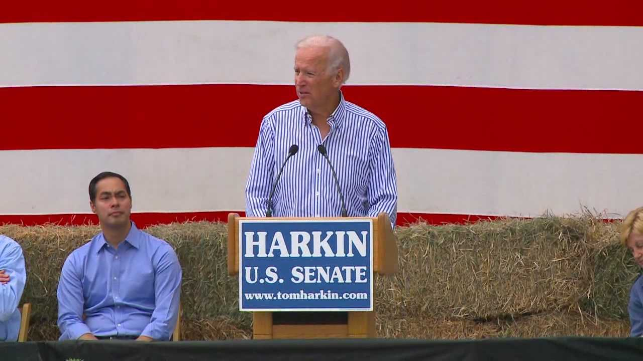 Biden speaks on Syria, Senate race at annual steak fry