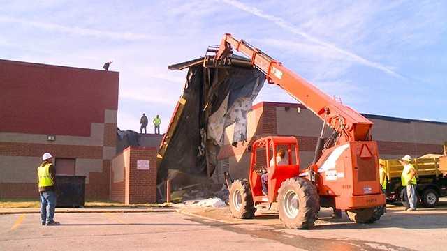 South prairie repair tearing off roof