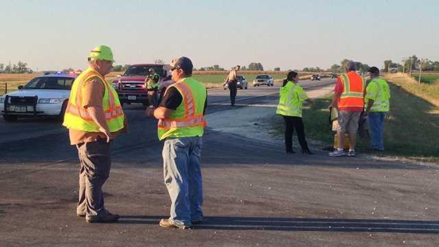 Fatal crash scene on Highway 65