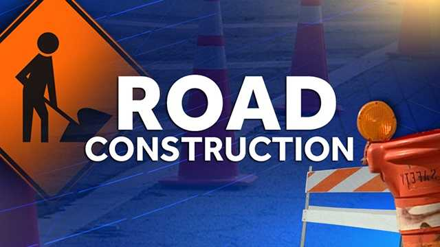 Road construction graphic