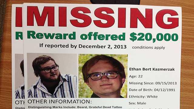 Ethan Kazmerzak missing poster