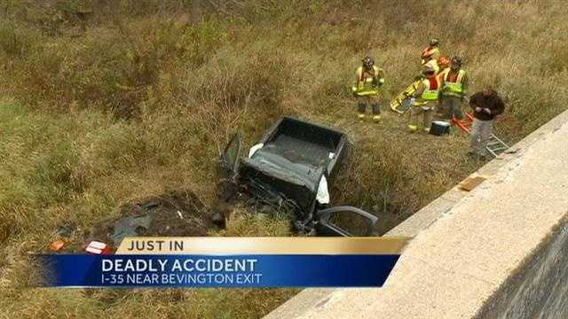 I35 crash scene 1