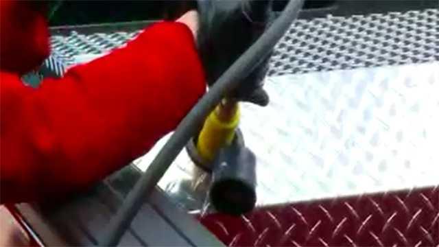 Natural gas pump fillup
