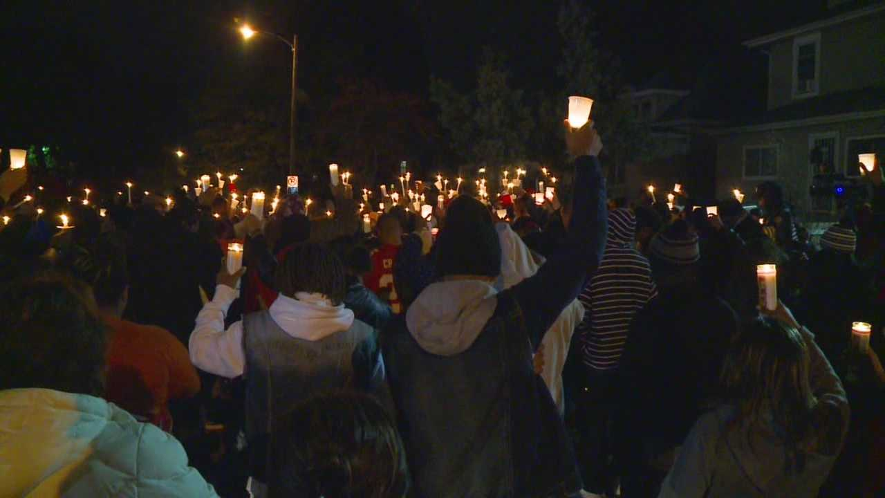 Dozens gather to mourn shooting victim