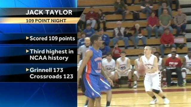 Jack Taylor erupts for 109
