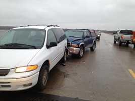 Crash on Mile Long Bridge in northern Polk County.