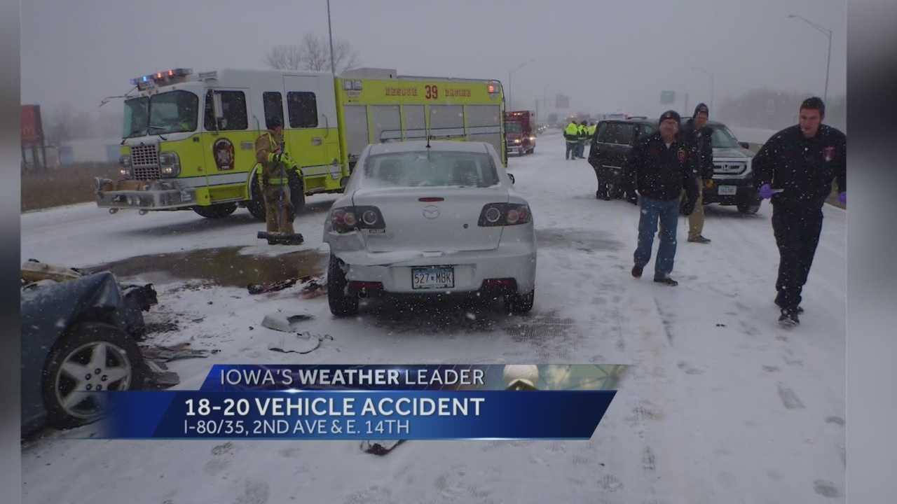 20 vehicle crash