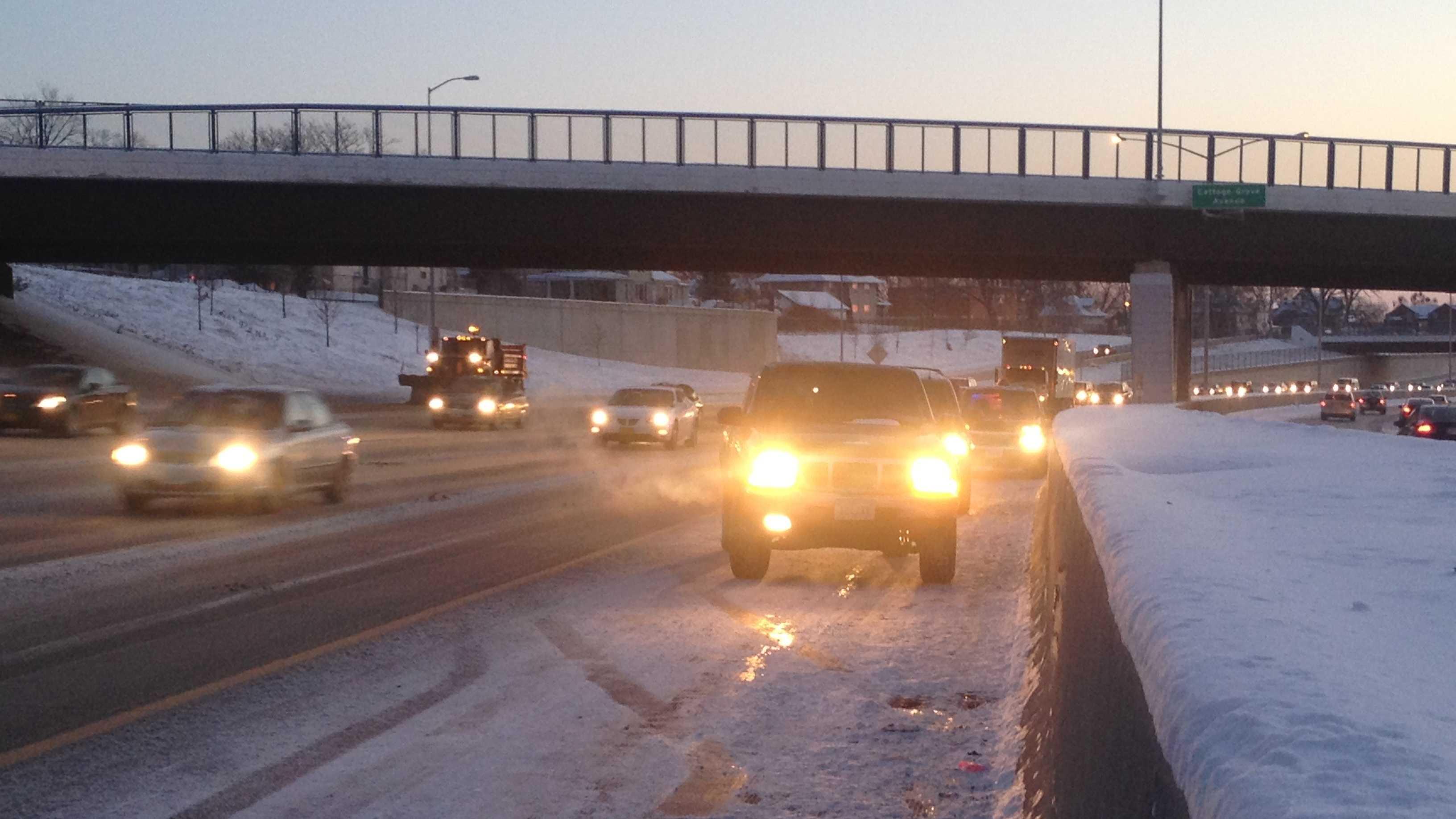 Snow commute