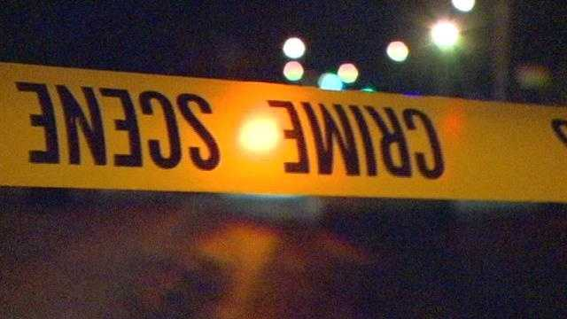 Generic crime scene tape night