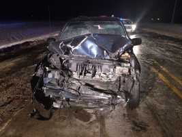 The third vehicle involved in the crash.