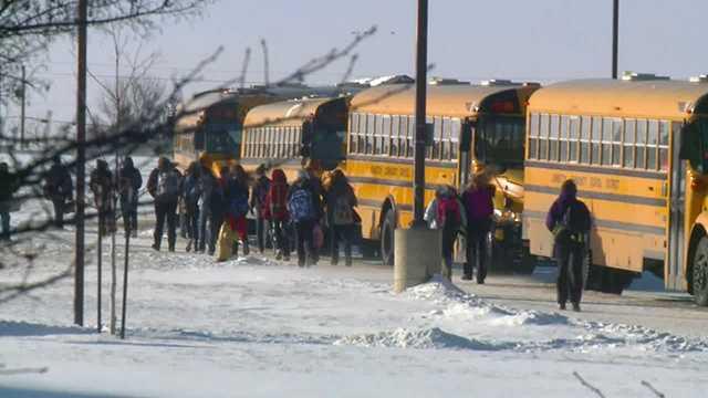snow cold school bus generic