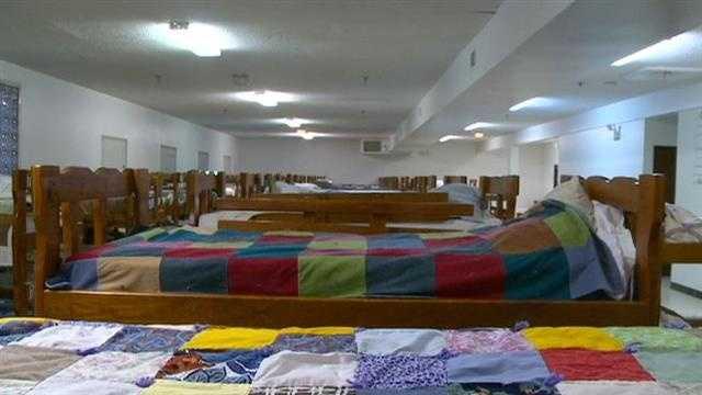 Homeless shelter beds fill up