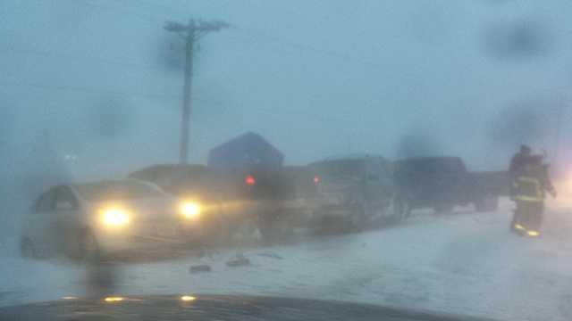 Highway 169 crash involves 30 vehicles