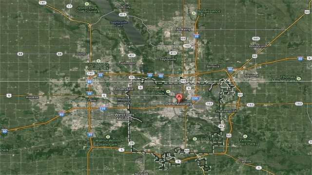 Metro Des Moines map